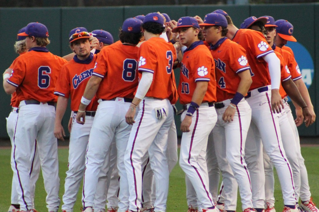 Clemson Baseball Team Huddle