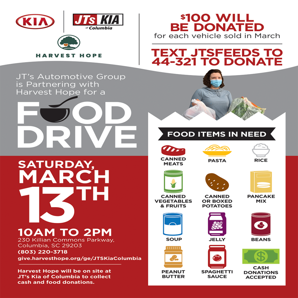 Jts Kia Food Drive