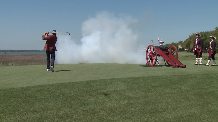 RBC Heritage cannon shot