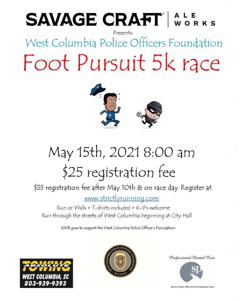 Wcpd 5k Foot Pursuit