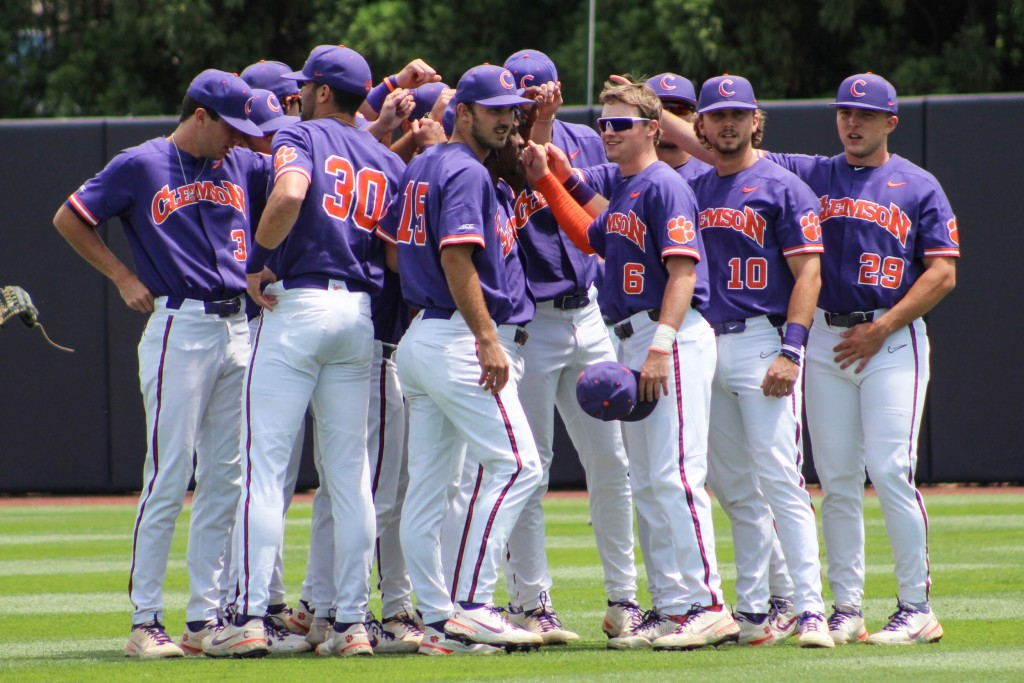 Clemson Baseball Team Huddle 2