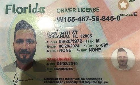Lpd Florida Fake License