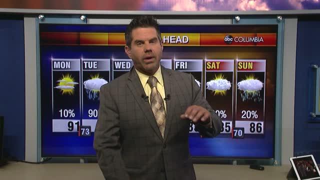 Tyler Ryan's Monday Morning Forecast