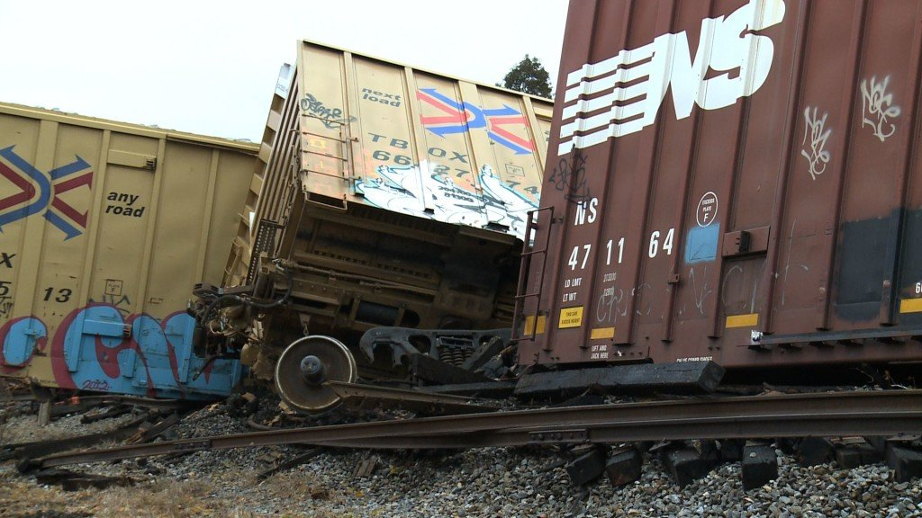 Clean Up and Repairs Underway after Train Derailment in