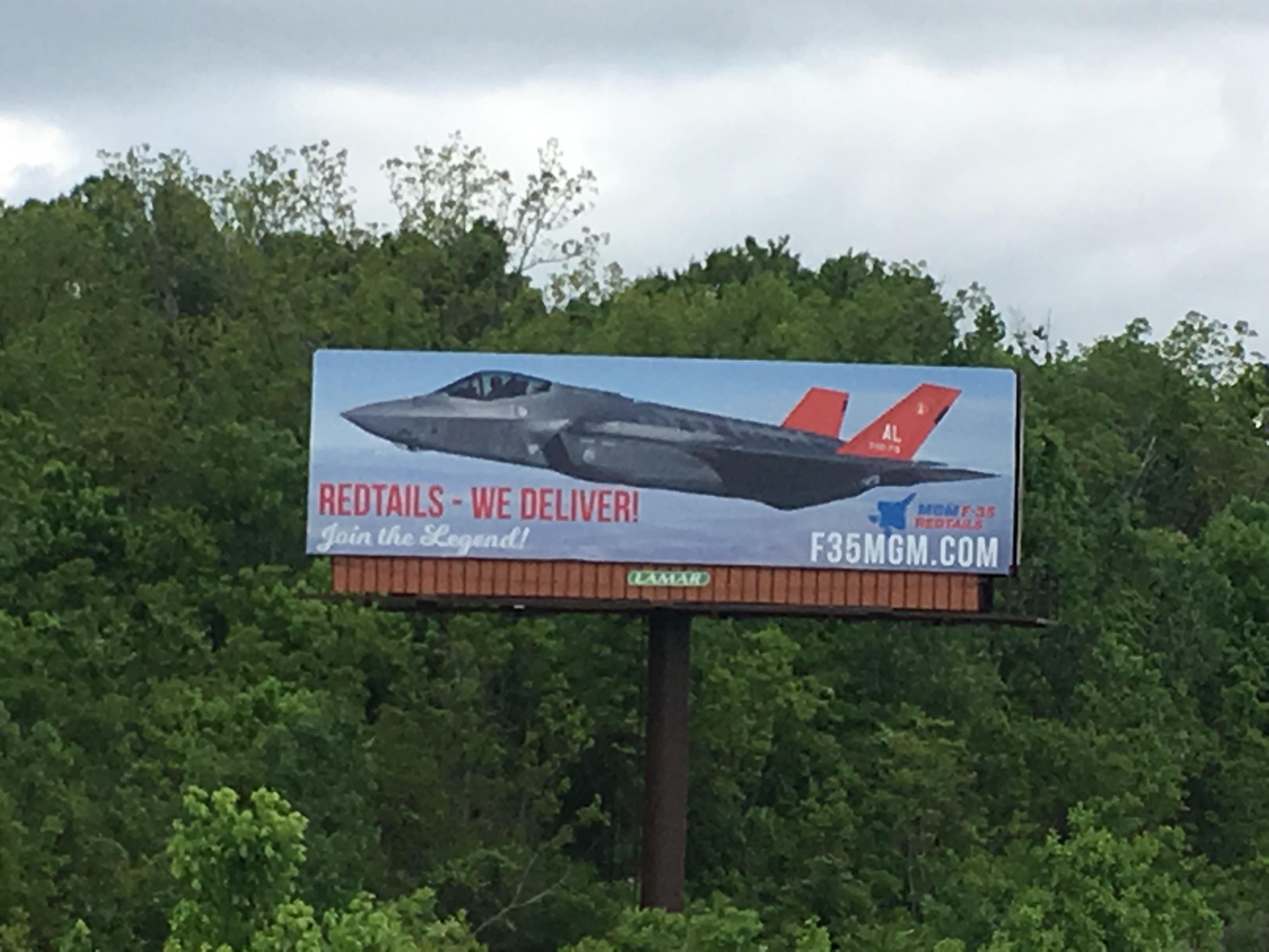 Billboards support F-35 in Alabama