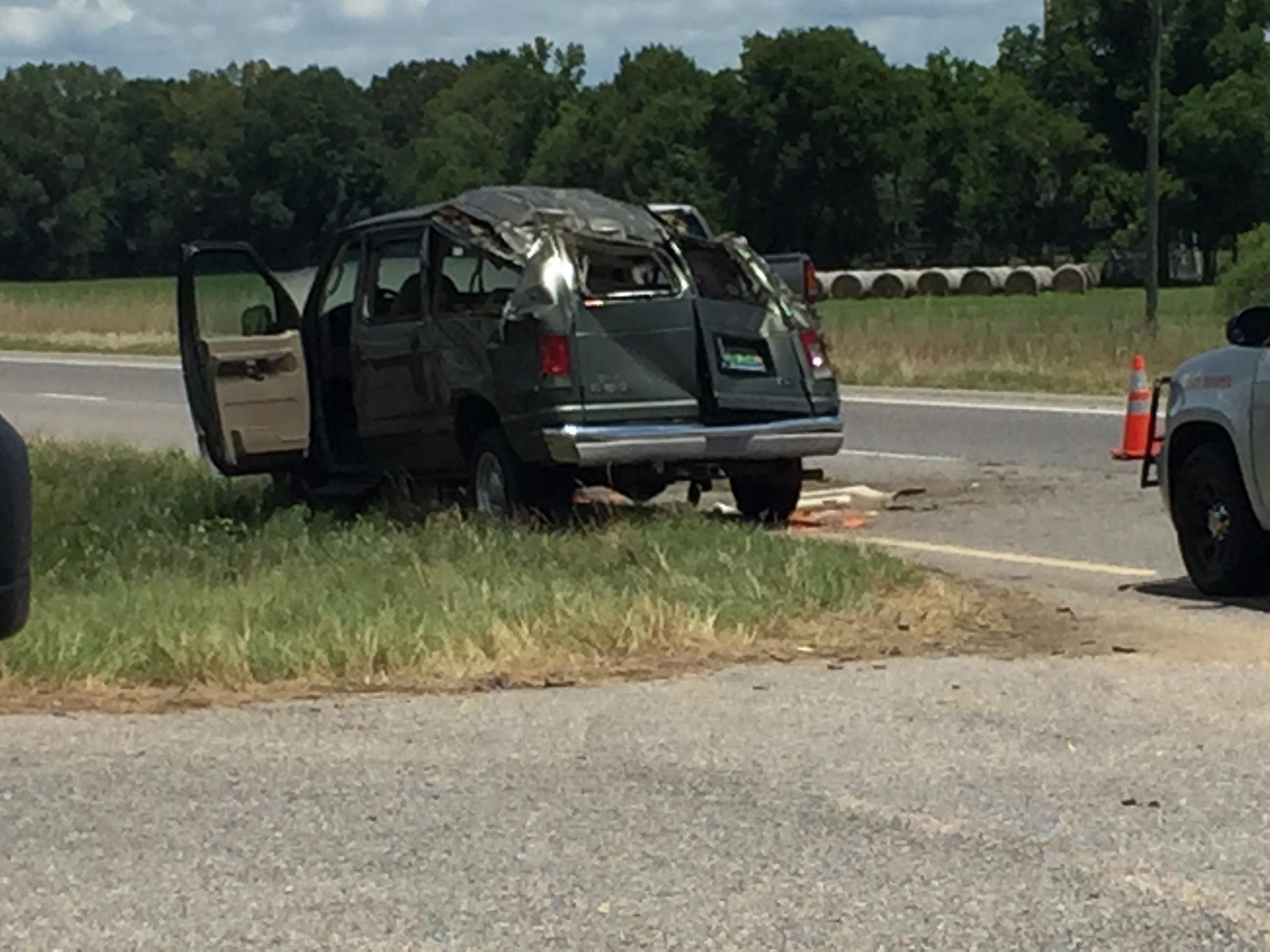Van Crashes on U S  Highway 231, Passengers Ejected