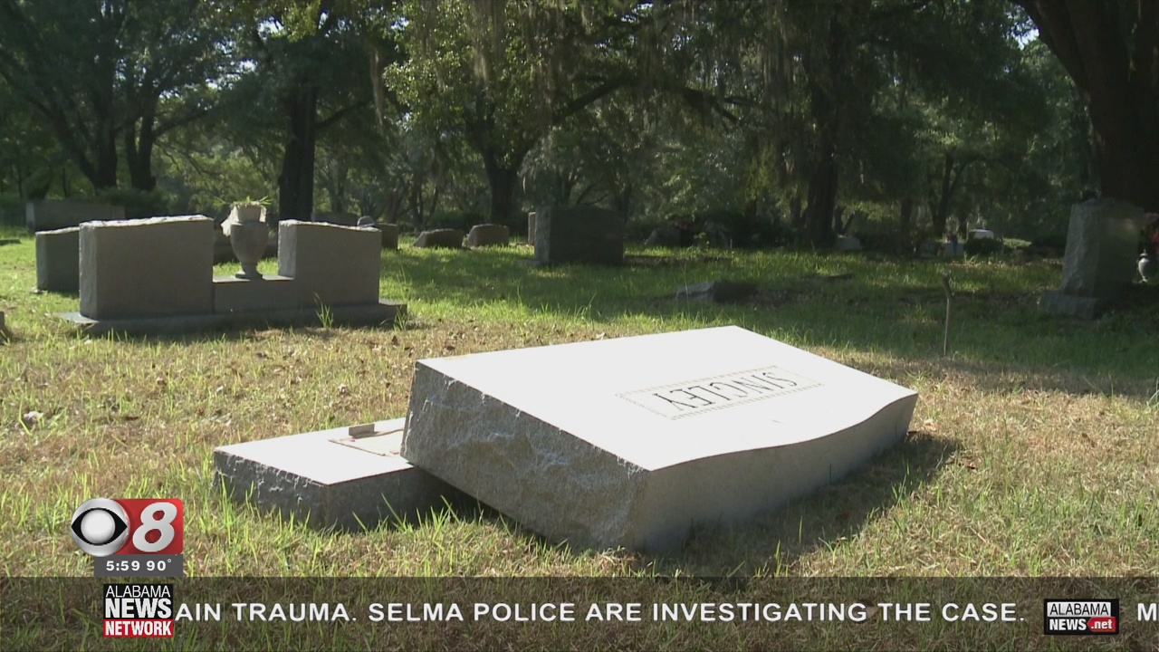 Vandalism at a Selma Cemetery Sparks Outrage - Alabama News