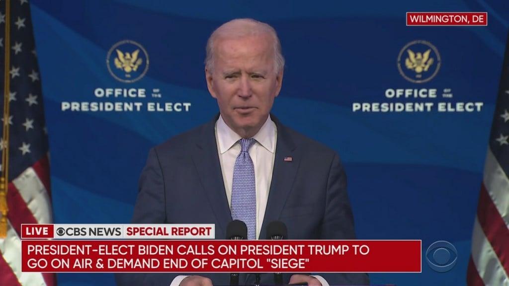 Joe Biden Reaction To Capitol Protest 010621
