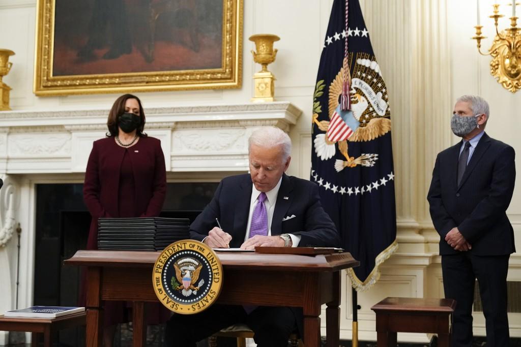 Joe Biden, Kamala Harris, Anthony Fauci