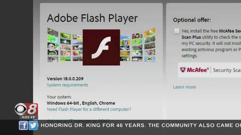 Wtt Adobe Flash Player 011821