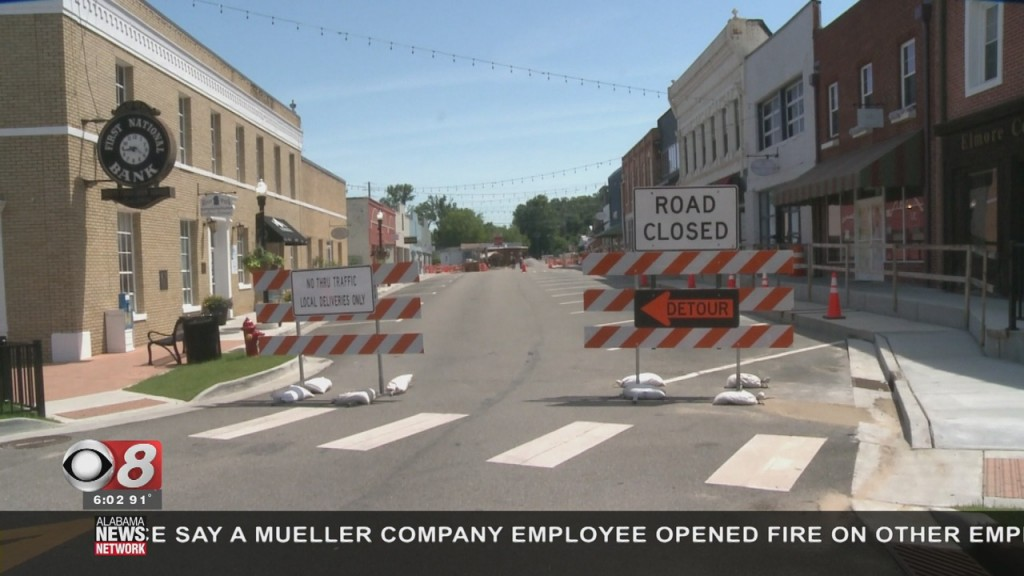 Company Street Closed In Wetumpka