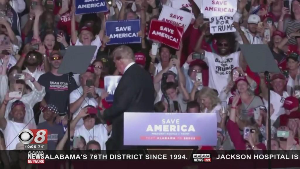 Flowers On Trump Rally