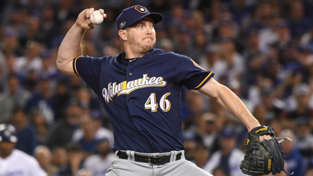 Milwaukee Brewers reliever Corey Knebel