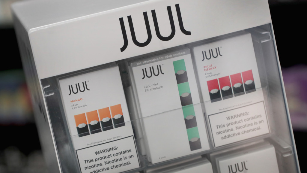 Juul displayed in a store