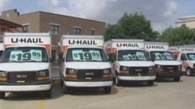U-Haul vehicles