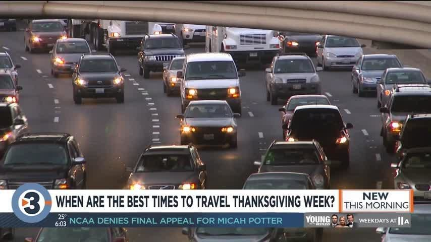 These are the best and worst times to travel this Thanksgiving