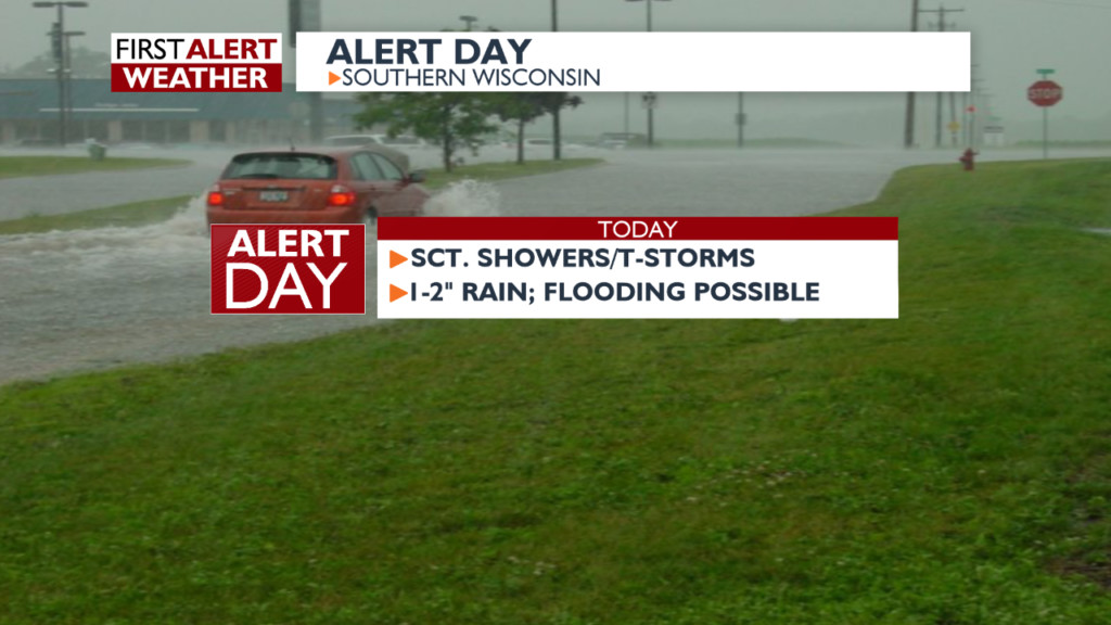 Heavy rain may cause flooding in southwestern Wisconsin
