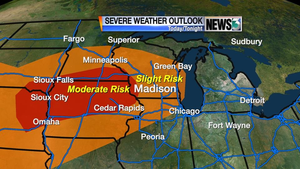 Severe weather expected late Monday