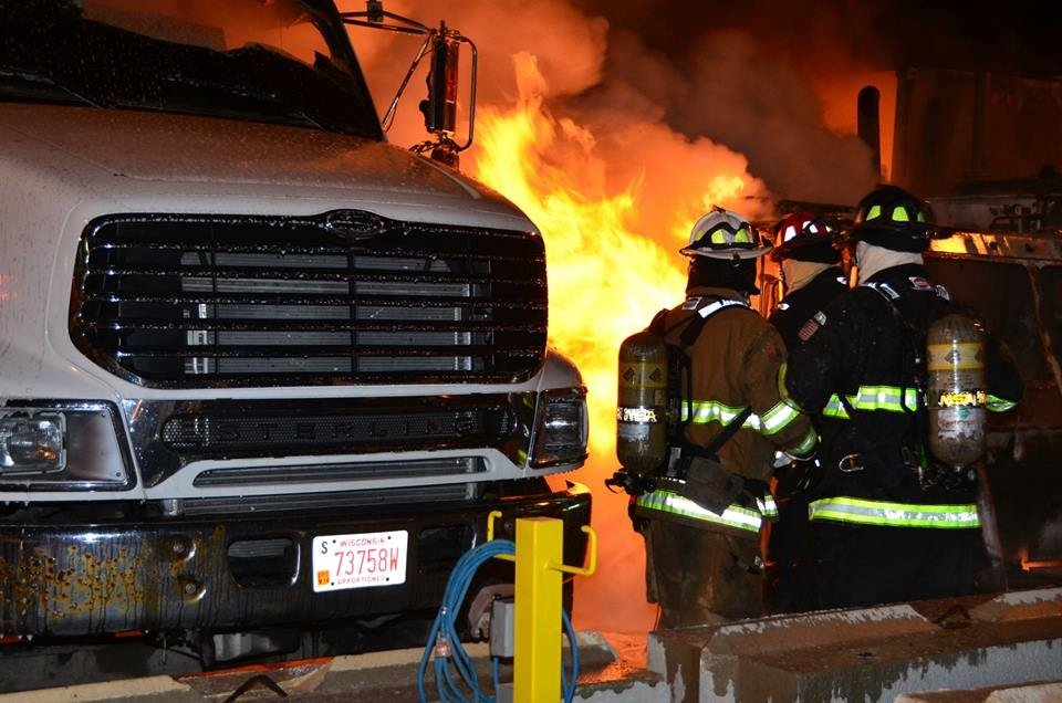 Fire destroys 4 garbage trucks, causes $1M in damage