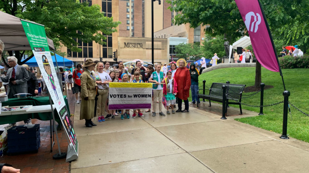 Women of all ages celebrate 100th anniversary of ratification of 19th Amendment