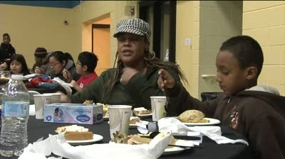 Thankful families take in annual dinner
