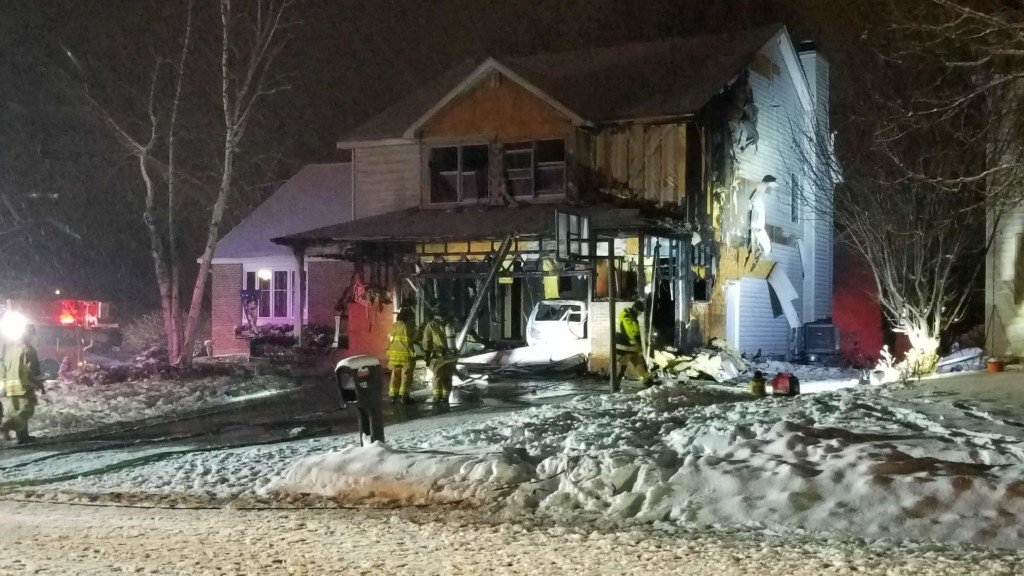 2 taken to hospital, residents displaced in Sun Prairie house fire, fire officials say
