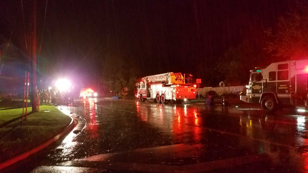 Firefighters respond to Belleville gas leak following strong storms, possible tornado