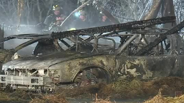 Former dance hall destroyed by fire