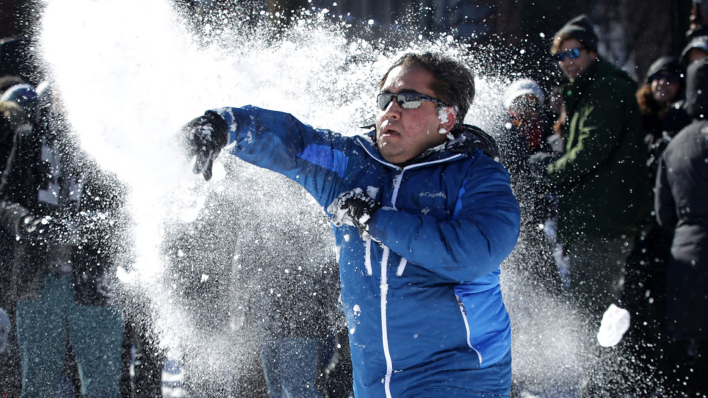 Wisconsin city mulls dumping old ban on throwing snowballs