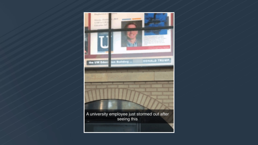Derogatory message against President Donald Trump makes appearance at UW-Madison