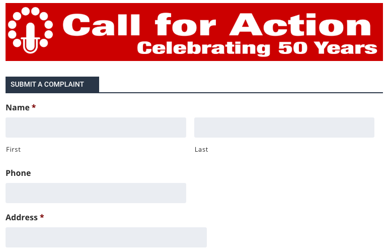 Call for Action Form