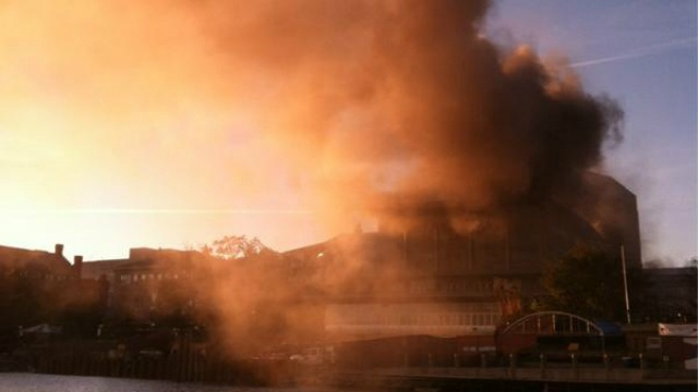 Cutting tool accident caused fire at Memorial Union