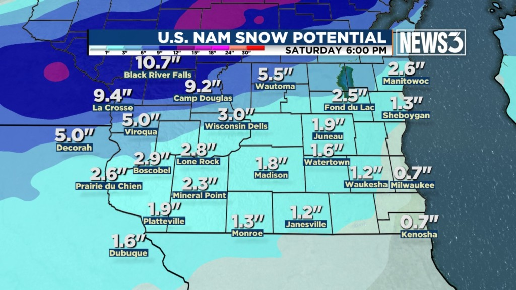 Messy weather closes schools in southern Wisconsin