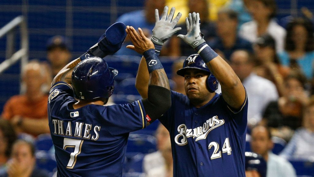 Thames leads Brewers to 2-1 win over Pirates