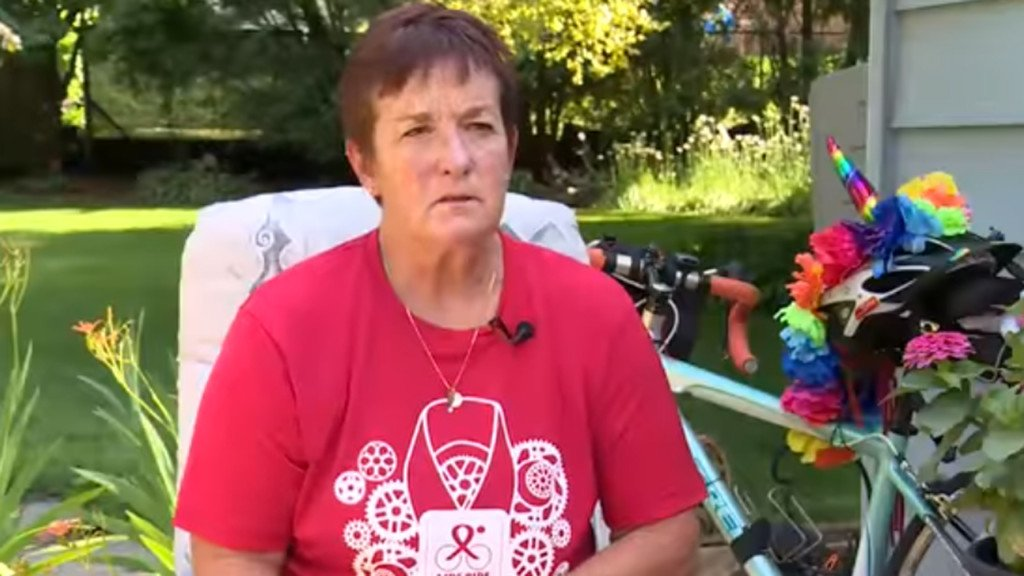 Woman logs thousands of miles on bicycle to keep friends' memories alive