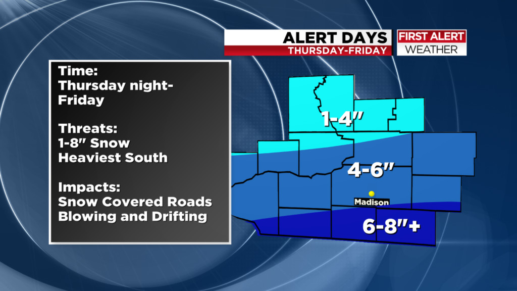 4 to 6 inches of snow possible Thursday night; Winter storm watch issued
