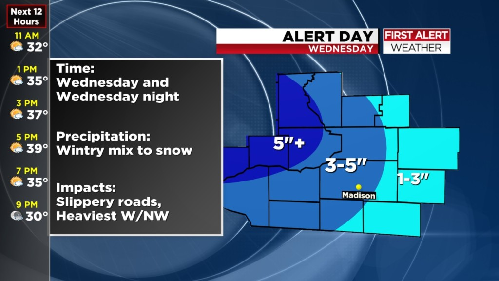 Say it ain't snow! More expected Wednesday