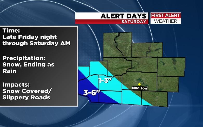 Snowstorm expected to start Friday night in southern Wisconsin