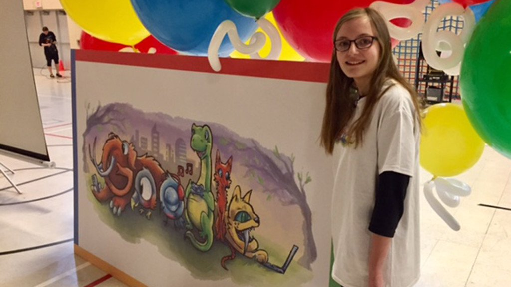 Madison middle school student creates winning Google doodle