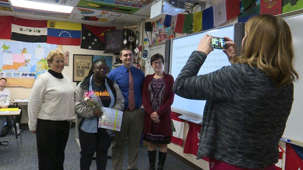Janesville student surprised with Young Woman of Distinction award