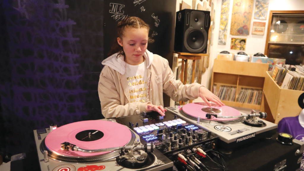 DJ Mirah, a 12-year-old Madison DJ, plays gigs all over town and beyond