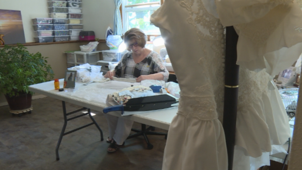 Woman takes wedding dresses and turns them into burial outfits for stillborn, miscarried babies