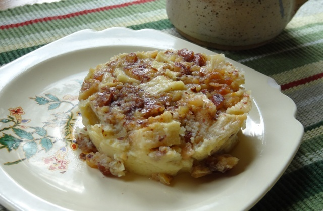 Donna's Apple Almond Custard
