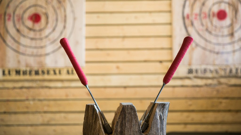 New axe-throwing, 'lumberjack sports' space opens in Madison
