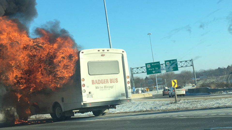 Cause of Badger Bus fire that shut down Beltline undetermined, officials say