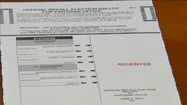 Absentee ballot application lists who to vote for