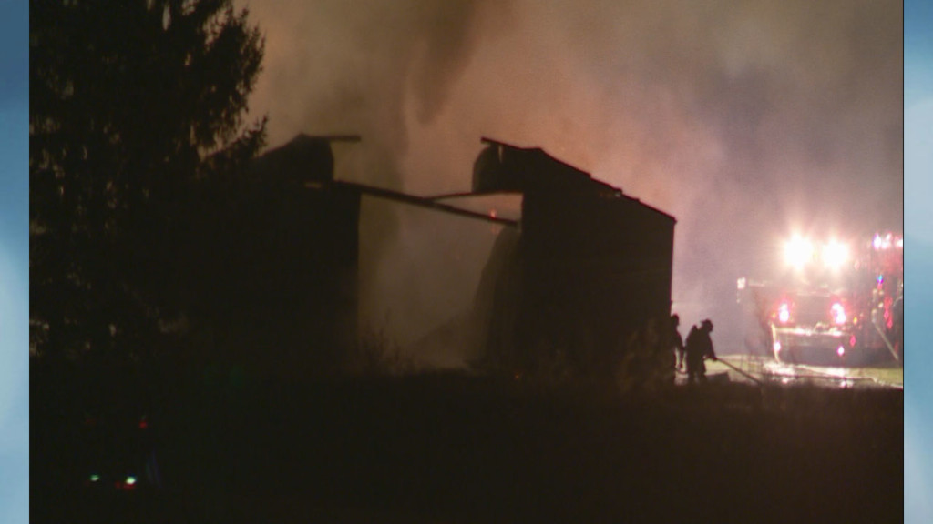 Barn 'complete loss' after early-morning fire