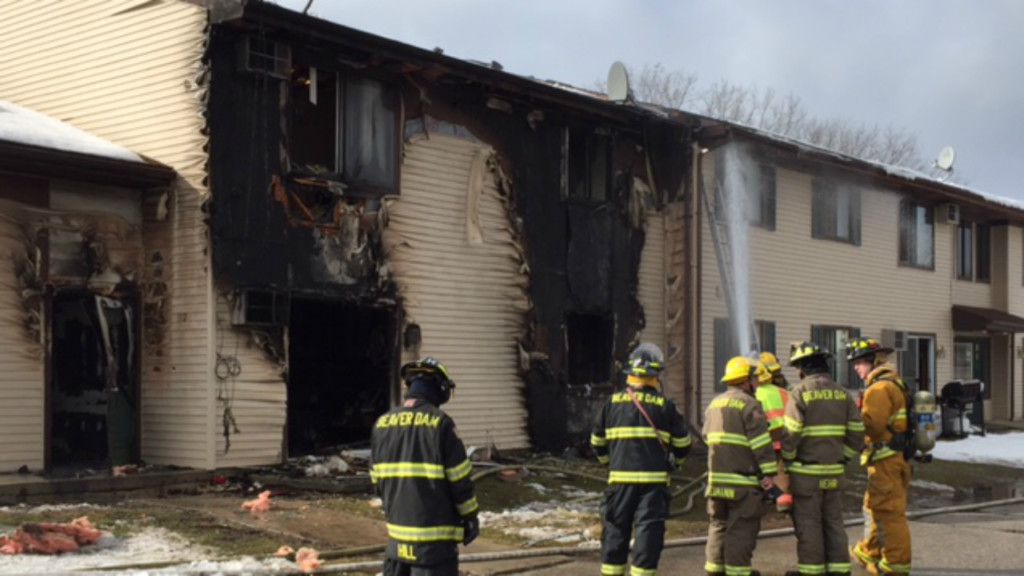 Four families displaced in apartment fire