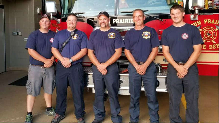 Local fire departments step in for Sun Prairie in time of grief