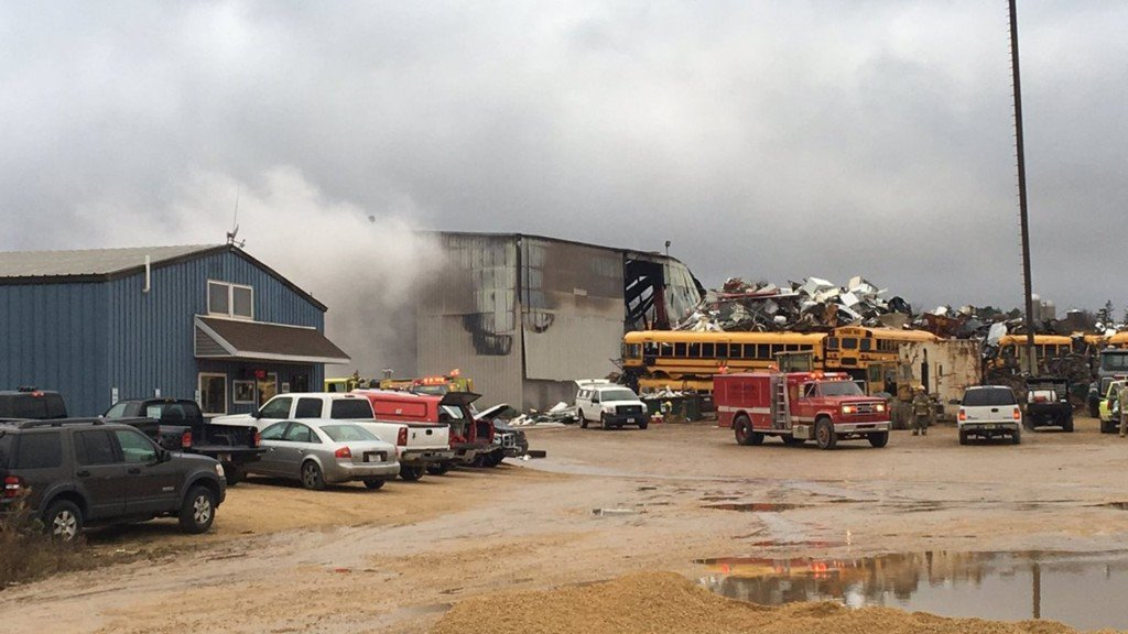 Scrap yard warehouse destroyed in Lafayette County fire